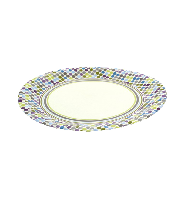 "Papieren bord ""Raenas en Topos"" Design 18cm (504 stuks)"