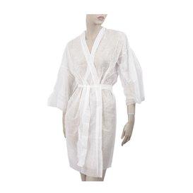 "Wegwerp-laboratoriumjas ""Kimono"" Das belt zak""TST"" PP wit XL (10 stuks)"