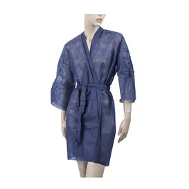 "Wegwerp-laboratoriumjas ""Kimono"" Das belt zak""TST"" PP blauw XL (10 stuks)"