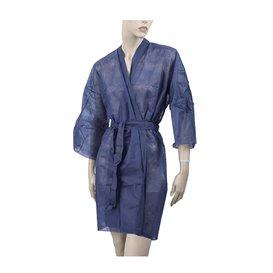 "Wegwerp-laboratoriumjas ""Kimono"" Das belt zak""TST"" PP blauw XL (100 stuks)"