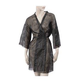 "Wegwerp-laboratoriumjas ""Kimono"" ""TST"" PP zwart XL (100 stuks)"