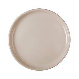 """Plastic bord voor Pizza beige """"Rond vormig"""" PP Ø35 cm (12 stuks)"""