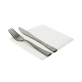 Papieren servet 2 laags wit 33x33 (50 stuks)