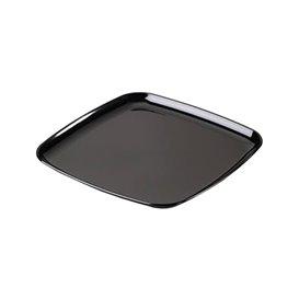 Plastic dienblad Vierkant Hard zwart 30x30cm (25 stuks)