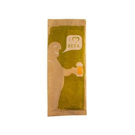 "Enveloppe Bestekhouder met Servet ""I Love Beer"" (125 stuks)"