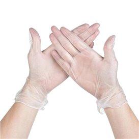 Vinenl handschoenenen transparant maat M (100 stuks)