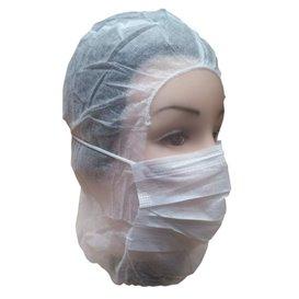 Wegwerp-chirurgiekap PP wit (50 stuks)