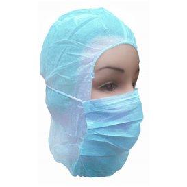 Wegwerp-chirurgiekap PP blauw (50 stuks)