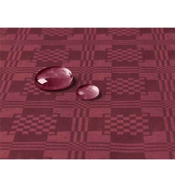 Tafelkleed rol Waterdicht bordeauxrood 1,2x5m (10 Stuks)