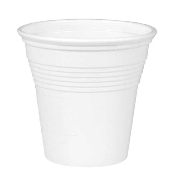 Plastic PS Shotje wit 80 ml (4.800 stuks)