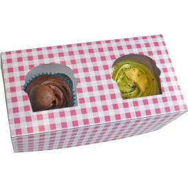 Papieren Cake vorm zak 2 Slots roze 19,5x10x7,5cm (160 stuks)