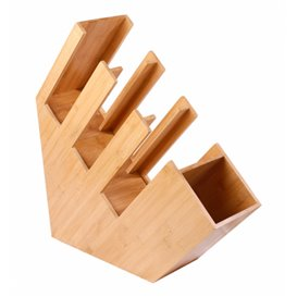 Bamboe beker, rietje en Deksel ofganisatof 14x50x50cm (2 stuks)