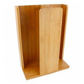Bamboe beker met Deksel organisator 23x12x30cm (1 stuk)