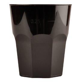 Plastic beker voor Cocktail PP zwart Ø8,4cm 270ml (20 stuks)