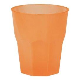 "Plastic PP beker ""Frost"" oranje 270ml (20 stuks)"