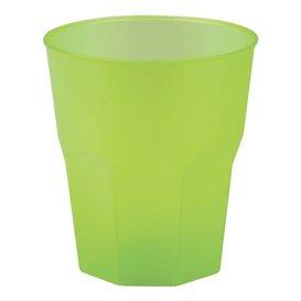 """Plastic PP beker """"Frost"""" limoengroen 270ml (20 stuks)"""