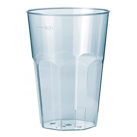 "Plastic PP beker ""Deco"" transparant 300 ml (30 stuks)"