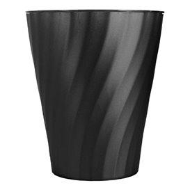 """Plastic PP beker """"X-Table"""" zwart 320ml (8 stuks)"""