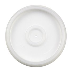 Plastic Deksel PS Doorzichtig Ø6,9cm voor Schuim beker 4Oz/120ml (100 stuks)