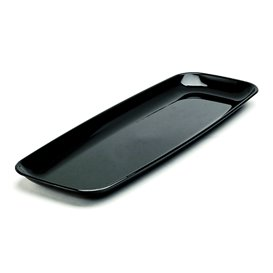 Plastic dienblad Rechthoekige vorm Hard zwart 17x45cm (25 stuks)