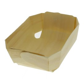 Houten steunplateau dienblad 18,0x10,5x5,0cm (50 stuks)
