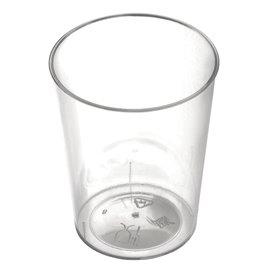 "Plastic PS beker ""Conical"" transparant 50 ml (25 stuks)"