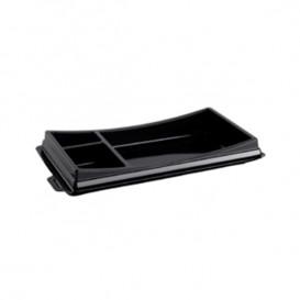 Plastic sushi Container PET zwart 17,2x10,1cm (10 stuks)