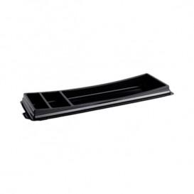 Plastic sushi Container PET zwart 26,3x9,1cm (10 stuks)