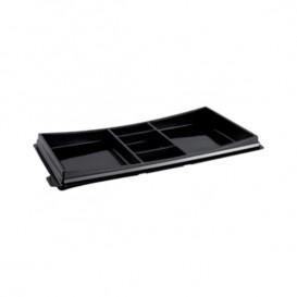 Plastic sushi Container PET zwart 27,3x15,1cm (10 stuks)
