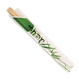 Bamboe wegwerp eetstokjes verpakt 20cm (100 stuks)