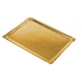 Papieren dienblad Rechthoekige vorm goud 22x28cm (600 stuks)