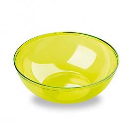 Plastic Kom PS Kristal Hard groen 400ml Ø14cm (4 stuks)