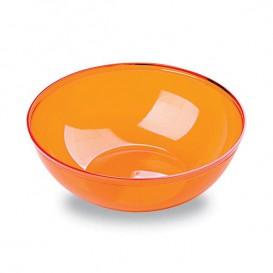 Plastic Kom PS Kristal Hard oranje 400ml Ø14cm (4 stuks)