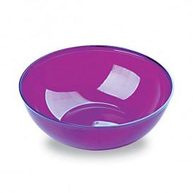 Plastic Kom PS Kristal Hard aubergine kleur 400ml Ø14cm (4 stuks)