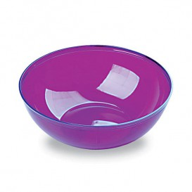 Plastic Kom PS Kristal Hard aubergine kleur 400ml Ø14cm (60 stuks)