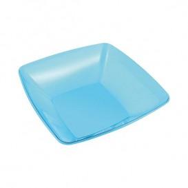 Plastic Kom PS Kristal Hard turkoois 480ml 14x14cm (60 stuks)