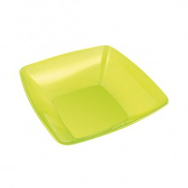 Plastic Kom PS Kristal Hard groen 480ml 14x14cm (4 stuks)
