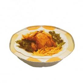 Papieren Deksel voor Geroosterde kip met gats Rond vormig 2400ml (500 stuks)