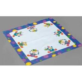 Papieren servet Clown Design 33x33cm (500 stuks)