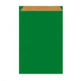 Bolsa de Papel Kraft Verde 12+5x18cm (250 Unidades)