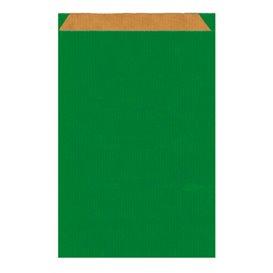 Bolsa de Papel Kraft Verde 19+8x35cm (50 Unidades)