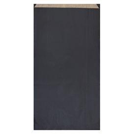 Papieren envelop kraft zwart 19+8x35cm (750 stuks)