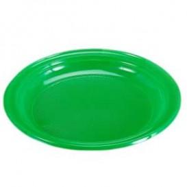 Plastic bord Plat groen 20,5 cm (960 stuks)