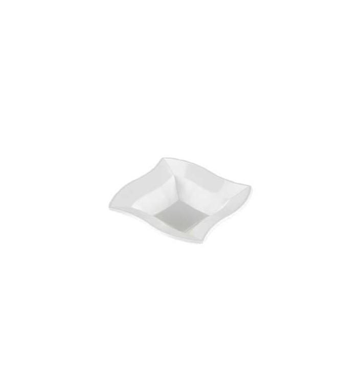 """Plastic kom PS Vierkant """"Ondas"""" wit 18x18cm (360 stuks)"""