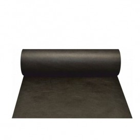 Novotex tafel loper zwart 50g P30cm 0,4x48m (6 stuks)