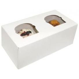 Papieren Cake vorm zak 2 Slot wit 19,5x10x7,5cm (20 stuks)