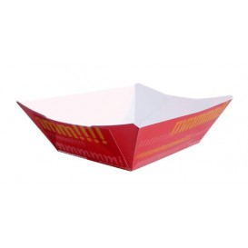 Kartonnen Snackbakjes 350ml 10,6x7,3x4,5cm (1000 stuks)