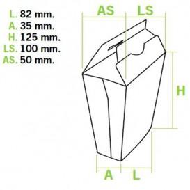 Papieren Container voor frietenGesloten (450 stuks)