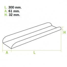 Papieren stokbrood dienblad 30x6,1x3,2 (1000 stuks)