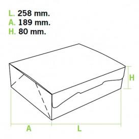 Gebakdoos karton Witte 2Kg wit 25,8x18,9x8cm (25 stuks)